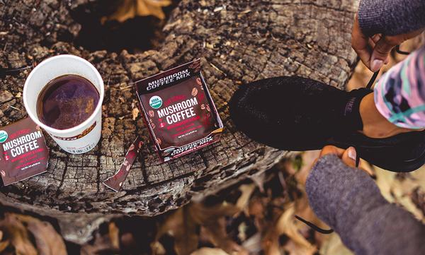 Four Sigmatic Muschroom Coffe Mix with Cordyceps in use