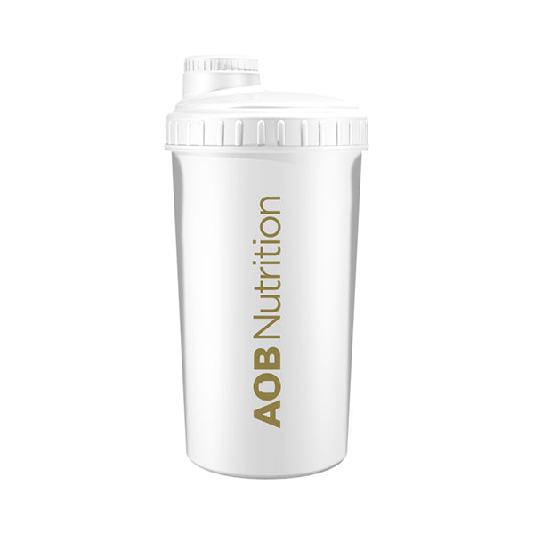 AOB Nutrition Shaker - White & Gold