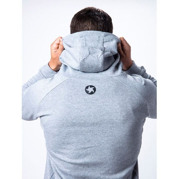 Maximuscle Men's Hoodie - rear up close