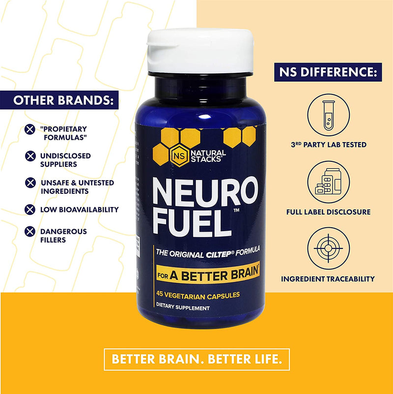 Neuro Fuel Nootropic from Natural Stacks