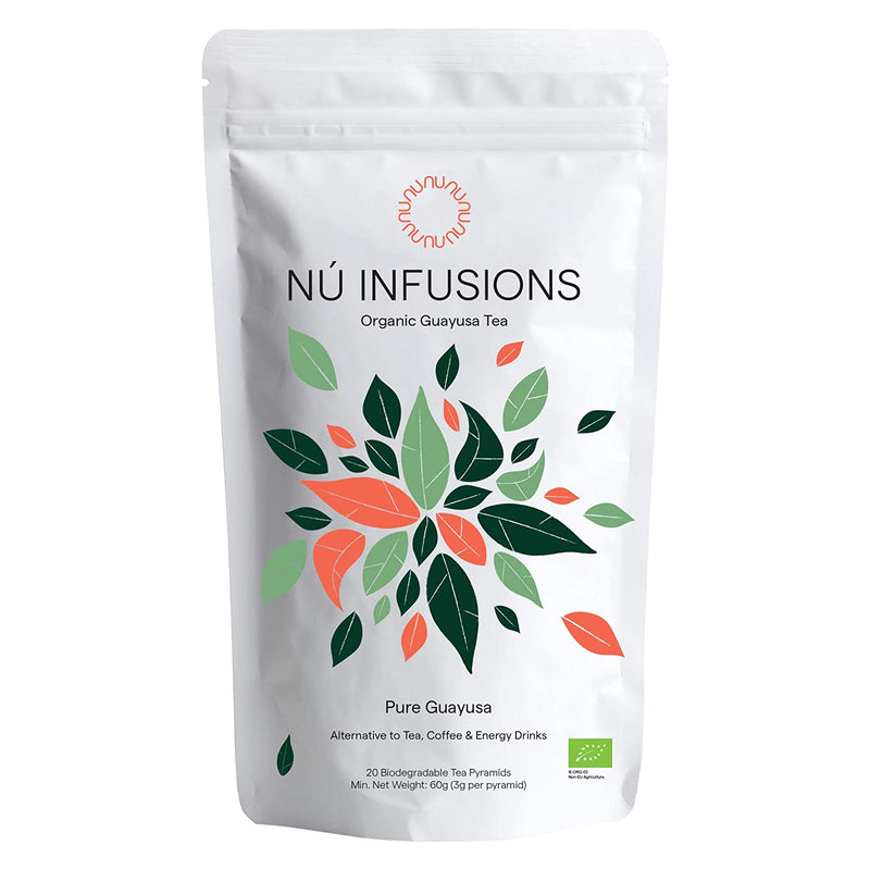 Nú Infusions Guayusa - 20 Biodegradable Tea Pyramids