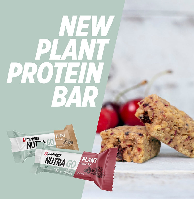 Nutramino Nutra Go Plant Protein Bar up close