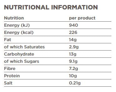 Tribe Protein Bar - nutrition