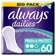 Always Dailies Normal Panty Liners 60 Pack