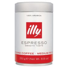 Illy Espresso Ground Coffee 250G