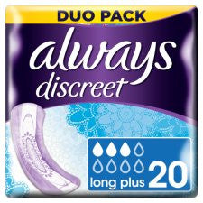Always Discreet Long Incont Pads 20 Pack