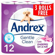 Andrex Gentle Clean 9 Plus 3 Rolls Free