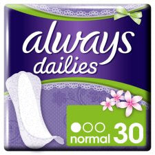 Always Dailies Incredibly Thin Panty Liners 30 Pack