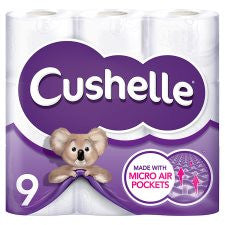 Cushelle Toilet Tissue 9 Roll White