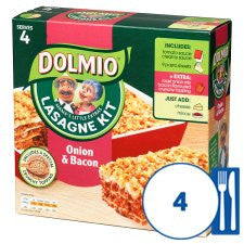 Dolmio Lasagne Meal Kit Onion And Bacon 852G