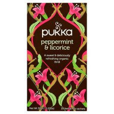 Pukka Organic Peppermint and Licorice Tea 30g