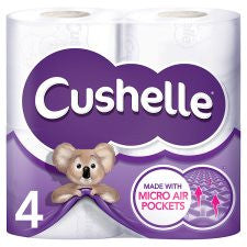 Cushelle Toilet Tissue 4 Roll White