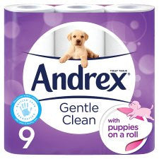 Andrex Toilet Tissue 9 Roll Gentle Clean