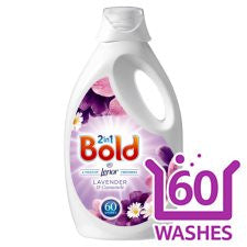 Bold Washing Liquid Lavender And Chamomile 60 Washes 3L