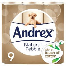 Andrex Toilet Tissue 9 Roll Natural