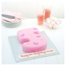 Easy Entertaining Butterfly Number 5 Cake (Single)