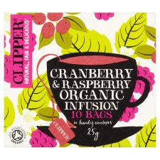 Clipper Organic Cranberry and Raspberry Infusion 10'S 25g