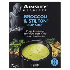 Ainsley Harriott Broccoli And Stilton Soup 3 Pack 72G