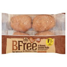 Bfree Brown Seeded Rolls High Fibre 240G