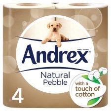 Andrex Toilet Tissue 4 Roll Natural