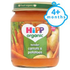 Hipp 4 Month Organic Carrots And Potatoes 125G Jar
