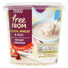 Tesco Free From Original Porridge Pot 55G