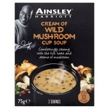 Ainsley Harriott Cream Of Mushroom Soup 3 Pack 75G