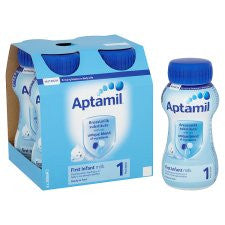 Aptamil 1 First Milk Multipack 4X200ml Ready To Feed Liquid