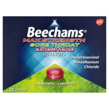 Beechams Lozenge Max Blackberry 20'S