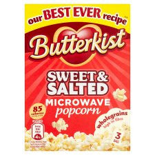 Butterkist Sweet Salt Microwave Popcorn 3X70g