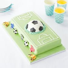 Easy Entertaining Football Pitch Frenzy Cake