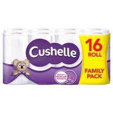 Cushelle Toilet Tissue 16 Roll White