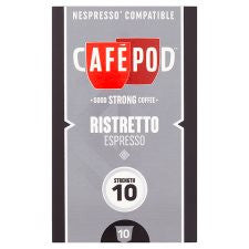 Cafepod #10 Ristretto Coffee Pods 10 Servings