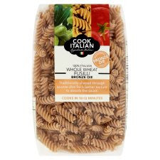 Cook Italian Bronze Whole Wheat Fusilli Pasta 500G