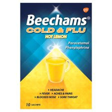 Beechams Cold And Flu Hot Lemon 10S
