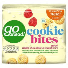 Go Ahead Cookie Bites White Chocolate And Raspberry 6X23g