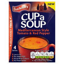 Batchelors Cup A Soup Tomato And Red Pepper 4Pack 98G