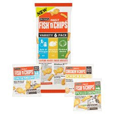 Burtons Fish And Chips Variety Bag 6 Pack