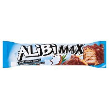 Alibi Max Chocolate Bar With Coconut And Caramel 49G