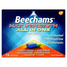 Beechams Max Strength All In One 16 Capsules