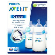 Avent Feeding Bottle 260Ml X3