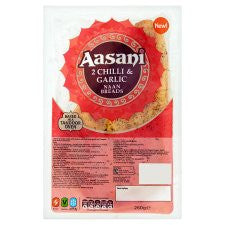 Aasani Chilli And Garlic Naan Breads 2S 260G