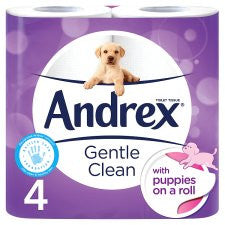 Andrex Toilet Tissue 4 Roll Gentle Clean