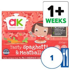 Annabel Karmel Tasty Spaghetti And Meatballs 200G