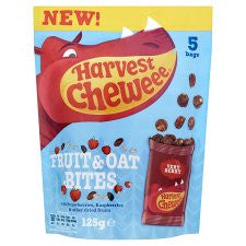 Harvest Chewee Fruit&Oat Bites Very Berry 125G