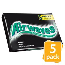 Airwaves Black Mint Gum 5 Pack