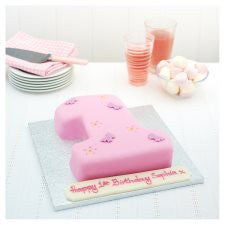 Easy Entertaining Butterfly Number 1 Cake (Single)