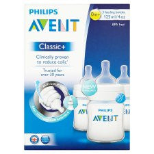 Avent Feeding Bottle 125Ml X3