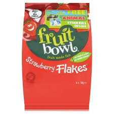 Fruit Bowl Strawberry Fruit Flakes 6 X 18G