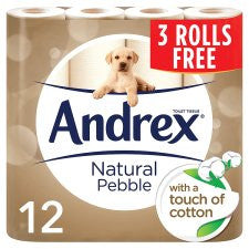 Andrex Natural Toilet Tissues 9 +3 Rolls